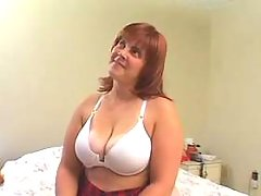 Redhead fatty enjoys oral