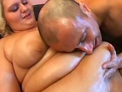 Fat mountain like woman enjoys oral