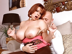 A Busty Redhead Goes For An Autumn Fling